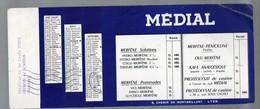Lyon (69 Rhône) Buvard MEDIAL 3e Trimestre 1956  (pharmacie) (PPP9219) - Chemist's