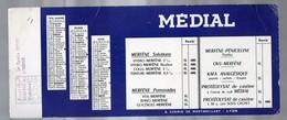 Lyon (69 Rhône) Buvard MEDIAL 1e Trimestre 1956  (pharmacie) (PPP9220) - Chemist's
