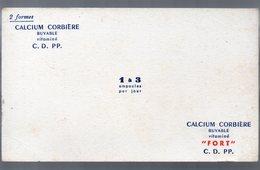 Buvard CALCIUM CORBIERE   (pharmacie) (PPP9221) - Chemist's