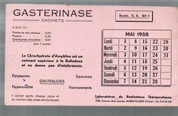 Aubervilliers : Buvard GASTERINASE (pharmacie) Mai 1950 (PPP9222) - Chemist's