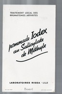 Lille (59 Nord) Buvard IODEX (pharmacie) (lab Rissa) (PPP9224) - Chemist's