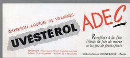 Paris  : Buvard UVESTEROL ADEC   (pharmacie) (PPP9226) - Chemist's