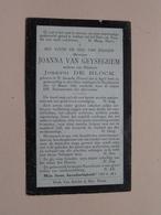 DP Joanna VAN GEYSEGHEM ( De Block ) St. Amands (Puers) 2 April 1844 - Ruysbroeck 13 Maart 1919 ( Zie Foto's ) ! - Décès