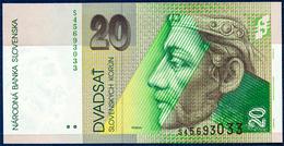 SLOVAKIA SLOWAKEI SLOVAQUIE SLOVACCHIA ESLOVAQUIA 20 KORUN P-20e Prince Pribina Castle Nitra - Neutra 2001 UNC - Slovakia
