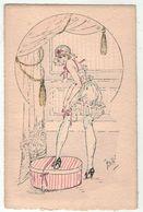 Illustrateur Signé à Définir   // Femme érotique, Froufrou - Illustrators & Photographers
