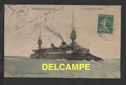 """DD / BATEAUX DE GUERRE / LE """" DUPUY-DE-LOME """" CROISEUR CUIRASSÉ / CIRCULÉE EN 1907 - Guerre"""