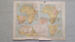 CARTE AFRIQUE  ALGERIE TUNISIE RECTO VERSO   IMP LEMERCIER 42 X 31 CM - Cartes Géographiques