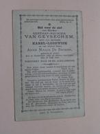 DP Gustaaf-Reinier VAN GEYSEGHEM (zoon Van Karel & Anna De Backer) Aalst 11 Sept 1840 - 13 Juli 1886 ( Zie Foto's ) ! - Obituary Notices