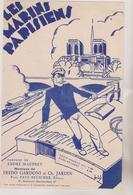 (GEO) LES MARINS  PARISIENS , Paroles ANDRE MAUPREY , Musique FREDO GARDONI - Partitions Musicales Anciennes