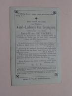 DP Karel-Lodewyk VAN GEYSEGHEM (Anna De Backer) St.Amands 19 Maart 1804 - Aalst 20 Juli 1887 ( Zie Foto's ) ! - Obituary Notices
