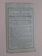 DP Felix VAN GEYSEGHEM (VERBRUGGEN) Sr. Amands (Puers) 29 Mei 1809 - Ruysbroeck 23 Mei 1899 ( Zie Foto's ) ! - Obituary Notices