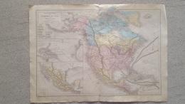 CARTE AMERIQUE DU NORD  ET MEXIQUE PAR DRIOUX ET LEROY 46 X 33 CM - Cartes Géographiques