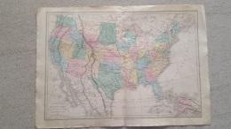 CARTE ETATS UNIS CANADA PAR DRIOUX ET LEROY 46 X 33 CM - Geographical Maps