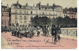 25 BESANCON Défilé Du 60ème D'infanterie; La CLIQUE Et Un VELO - 190918 - Manoeuvres