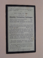 DP Amandus Constantinus VERBRUGGEN () St. Amands 29 Oct 1857 - 29 Oct 1904 ( Zie Foto's ) ! - Obituary Notices