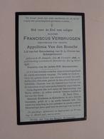 DP Franciscus VERBRUGGEN ( Appolonia Van Den Bossche) St. Amands 28 Nov 1828 - Mariekerke 14 Meert 1915 ( Zie Foto's ) ! - Décès