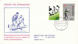 DC-1003 FDC NETHERLANDS 1973 FIELD HOCKEY - Hockey (Field)