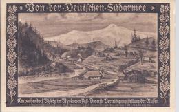 Von Der Deutschen Südarmee - Karpatendorf Vizkötz , Verteidigungsstellung Der Russen - Zeichnung     - AK-09780 - Oorlog 1914-18