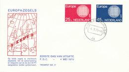 DC-1020 FDC NETHERLANDS EUROPA CEPT 1970 - Europa-CEPT