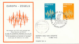 DC-1021 FDC NETHERLANDS EUROPA CEPT 1972 - Europa-CEPT