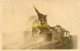 12 Firmy, Firmi, Photo-montage De La Chute Du Clocher De L'Eglise, Voir Correspondance Au Verso - Firmi
