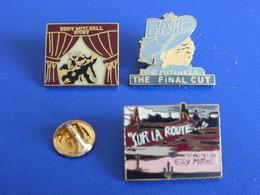 Lot 3 Pin's Musique Eddy Mitchell - Rock Concert - Sur La Route - The Final Cut - The End (Z25) - Celebrities