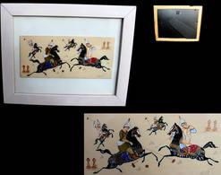 Fine Miniature Moghole Encadrée / Old Moghol Painting On Bone - Oriental Art