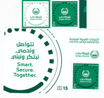UAE New Issue 2018, DUBAI POLICE 2v.+ 1 S.sheet Complete Set MNH- SKRILL PAYMENT ONLY - United Arab Emirates