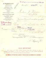 """Certificat De Transport De Chapelets Sur Le Cargo """"Phrygie"""" (Cie Paquet) Pour Constantinople / Istanbul, 1914, Levant - Invoices & Commercial Documents"""