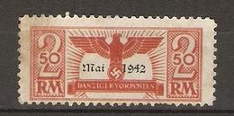 Allemagne Dantzig 1942  - Vignette Danziger Vorposten 2,50 RM - Dantzig