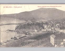 2 Postales MALAGA Almacenes De La Llave No 26 Vista General No 36 Alcazaba - Málaga