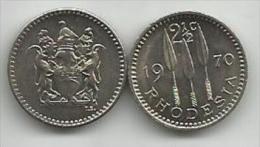 Rhodesia 2 1/2 Cents 1970. High Grade - Rhodesia
