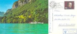 """AK  """"Rütli Mit Dampfschiff""""  (Schiffsstempel STADT LUZERN)         1980 - Suisse"""