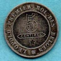 T10/  BELGIQUE / BELGIUM  5 Cents French Légende 1862 - 1831-1865: Léopold I.