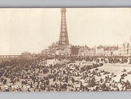 BLACKPOOL Photo Card 1920 Crowded Beach - Blackpool
