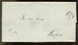 Hannover / 1830 / Vorphila-Brief Kleiner K1-Stempel HANNOVER, Innen Koenigl. Grossbrit.-Hann. Landrostei (17497) - Allemagne