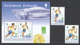 C888 2000 SOLOMON ISLANDS SPORT OLYMPIC GAMES RUNNING 100M 1500M 1BL+1SET MNH - Zomer 2000: Sydney