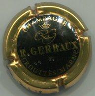CAPSULE-CHAMPAGNE GERBAUX R. N°13 Noir Contour Or - Champagnerdeckel