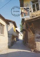 D22219 CARTE MAXIMUM CARD 1990 GREECE - TRADITIONAL HOUSES VERROIA CP ORIGINAL - Architecture