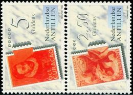 BV0762 Netherlands Antilles 1994 Celebrity Ticket 2V MNH - UPU (Union Postale Universelle)