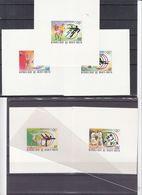 Haute Volta - Jeux Olympiques De 1976 - Football-voile-danse-judo-haltérophilie-feuillets De Luxe - Papier Carton - Estate 1976: Montreal