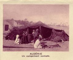Chromo, Image, Vignette : Algérie, Un Campement Nomade (6 Cm Sur 7 Cm) - Unclassified