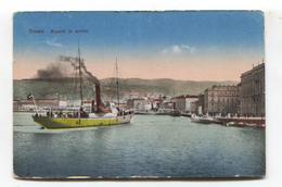 Trieste - Vapore In Arrivo - 1920 Used Italy Postcard - Trieste