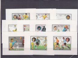 Fujeira - Football - Coupe Du Monde Munich 1976 - Michel 1391/1400 - 10 Feuillets De Luxe ** - - Fußball-Weltmeisterschaft