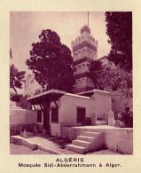 Chromo, Image, Vignette : Algérie, Mosquée Sidi-Abderrahmann à Alger (6 Cm Sur 7 Cm) - Unclassified