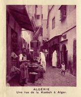 Chromo, Image, Vignette : Algérie, Une Rue De La Kasbah à Alger (6 Cm Sur 7 Cm) - Unclassified