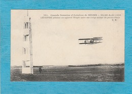 Grande Semaine D'Aviation De Reims. 22-29 Août 1909. Lefebvre Pilotant Un Appareil Wright Opère Son Virage Du Poteau .. - Reims