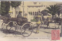 Cpa (colorisée)-13-marseille-animé-exposition Coloniale 1906-pousse Pousse Rigshaw-edi Lacour N°29 - Expositions Coloniales 1906 - 1922