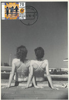 D35018 CARTE MAXIMUM CARD FD 1996 NETHERLANDS - FEMALE NUDE ON THE BEACH - POSTMARK NOORDWIJK CP ORIGINAL - Holidays & Tourism
