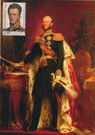 D35020 CARTE MAXIMUM CARD FD 2015 NETHERLANDS - DUTCH KING WILLIAM II CP ORIGINAL - Royalties, Royals